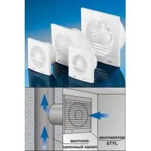 Вентилятор DOSPEL  STYL 100 S-P (без шнура, обратный клапан) (007-0001Р)