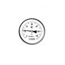 Термометр биметал. ТБ-063-1 на диапазон показаний 0...120 С. диаметр 63, погруж шток 40 мм, G 1/2