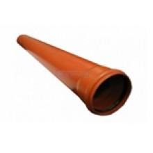 Труба  PP 110 х 3000 мм (толщ 3,4мм) наруж. Саратовпластика