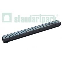 Комплект: лоток водоотводный Spark ЛВ–7.9.9-ПП пластиковый с решеткой штампованной стальной кл. А
