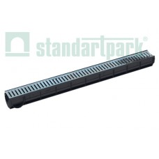 Лоток водоотводный Spark ЛВ–7.9.9-ПП пластиковый с решеткой штампованной стальной кл. А (комплект) 088011
