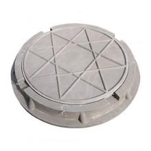 Люк канализ. полимерный 15 кН серый