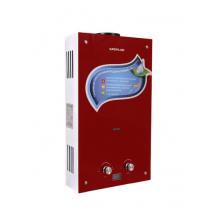 Газовый водонагреватель Superflame SF0120 10л. Стекло/ ВИННЫЙ-БОРДО с дисплеем (Мощн. 20 кВт, расход 10л/мин)
