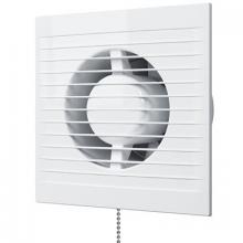 Вентилятор AURAMAX A6С-02 осевой вытяжной с обрат.клапаном.тяговым выключателем d=150